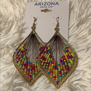 💜Arizona Jean Co Brass & Multi Beads Harp Design